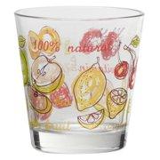 Fresh Fruit Double Old Fashioned Glasses, 12 oz, Set of 4