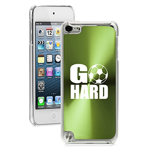 For Apple iPod Touch 5th / 6th Generation Hard Back Case Cover Go HARD Soccer (Green)