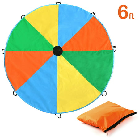 Magicfly 6/12 Feet Play Parachute Toy With 8 handles Multicolored Parachute for Kids Play Tent - Play Tents For Kids