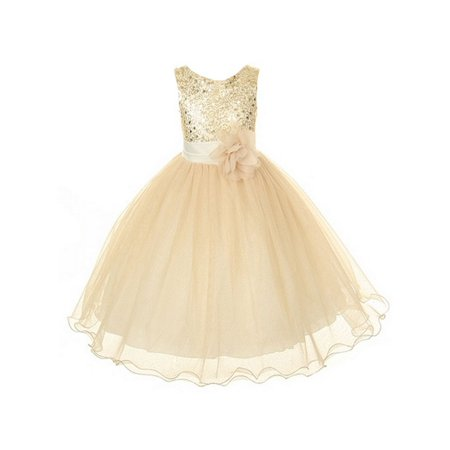 Kids Dream - Kids Dream Girls Gold Sequin Plus Size Junior ...