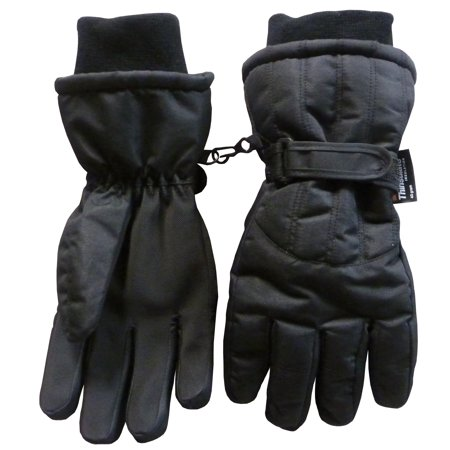 NICE CAPS Men's Adults Thinsulate Insulated and Waterproof Cold Weather Winter Snow Ski Snowboarder Glove with - Ridge Mittens