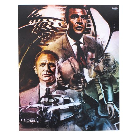 James Bond 007 Limited Edition 8x10 Inch Art Print by Rob Prior
