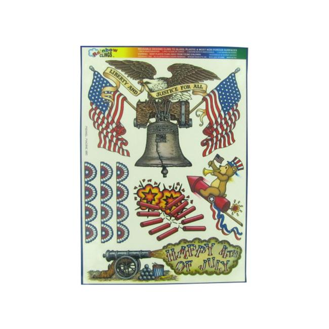 liberty and justice window clings - Pack of 120