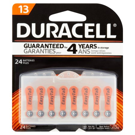 Duracell Hearing Aid Size 13 Batteries  24 Count