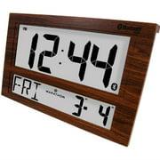 Marathon Jumbo Bluetooth Clock System for iOS/Android (Wood Grain)