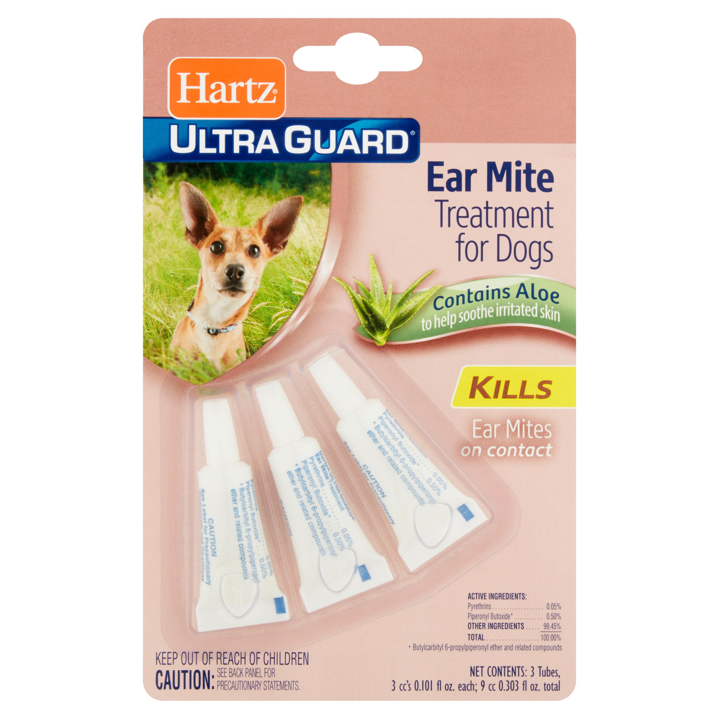 Hartz UltraGuard Ear Mite Treatment for Dogs, 3 Count