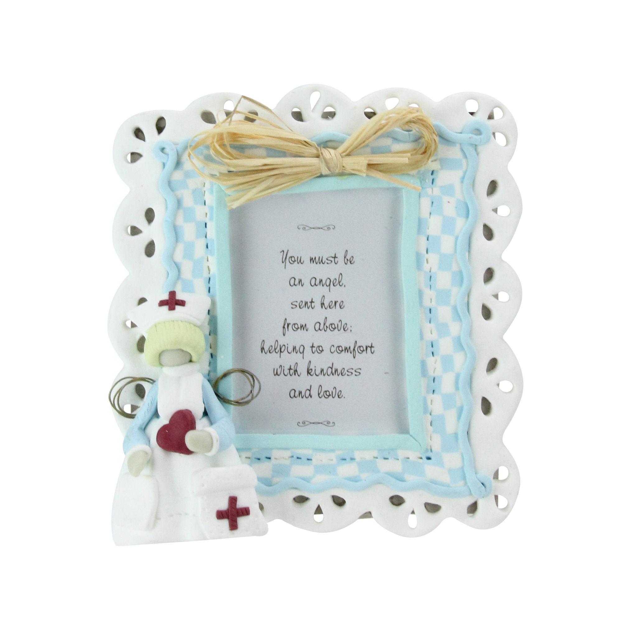 "Set of 6 Nurse Heavenly Angel 2""x3"" Photo Picture Frames #46914"