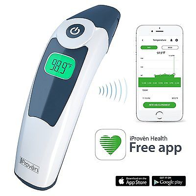 Smart Ear Thermometer - iProvèn ET-828BT Clinical Thermometer and Mobile App - Your Medical Companion for Health Monitoring at Home