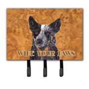 Caroline's Treasures Australian Cattle Dog Wipe Your Paws Key Holder