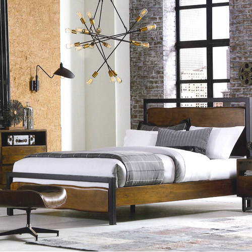 World Interiors King Platform Bed