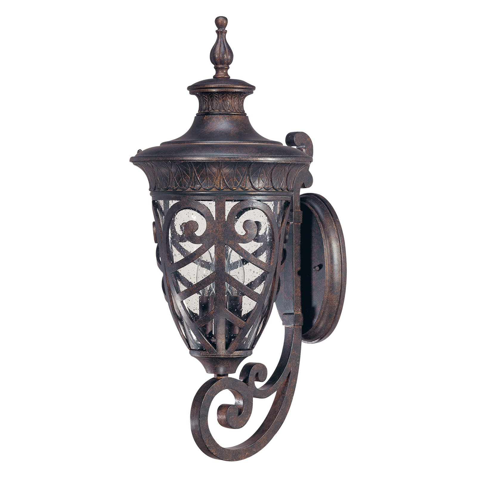 Satco Aston Dark Plum Bronze Transitional Outdoor w/ 3 Light 60W