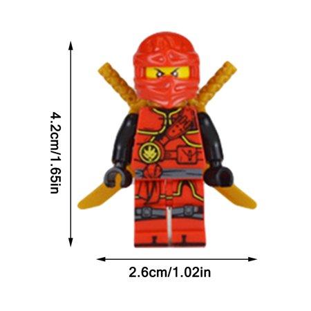 Ninjago Set of 20 Figures - Wooden Children Assembled Building Blocks Toys Gift - image 3 de 9