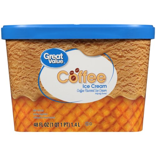 Great Value Coffee Ice Cream, 48 fl oz