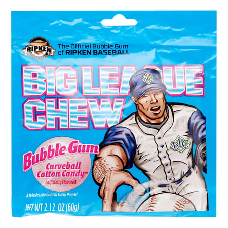 Sour Bubble Gum - Big League Chew Gum Cotton Candy, 2.12 Oz