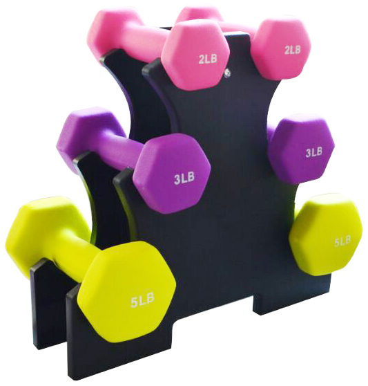 BalanceFrom 20-Pound Dumbbell Set with Stand
