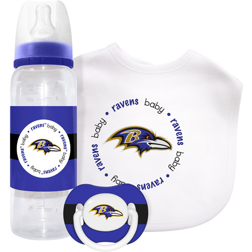 Baby Fanatic 3 Piece NFL Gift Set, Baltimore Ravens