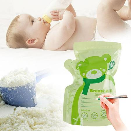 LYUMO 30PCS 250ML Sac de stockage de lait maternel Sac de lait scellé jetable pour le lait maternel Aliments pour bébé, Sac scellé de lait maternel, Stockage de lait maternel - image 5 de 7