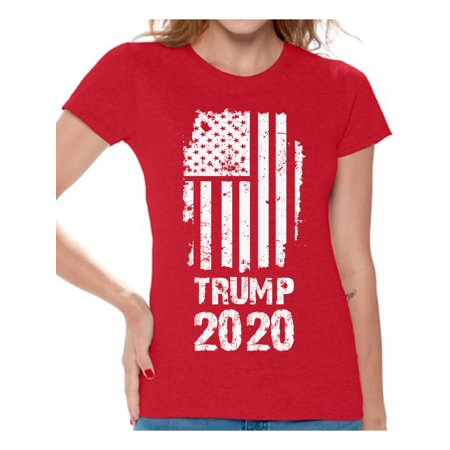 Awkward Styles Trump Flag 2020 Shirt for Women Keep America Great Trump Tshirt Donald Trump T Shirt Funny Gifts for Republican Patriotic Shirts for Women Trump 2020 Shirt Mr. President Political Shirt](Funny Women)