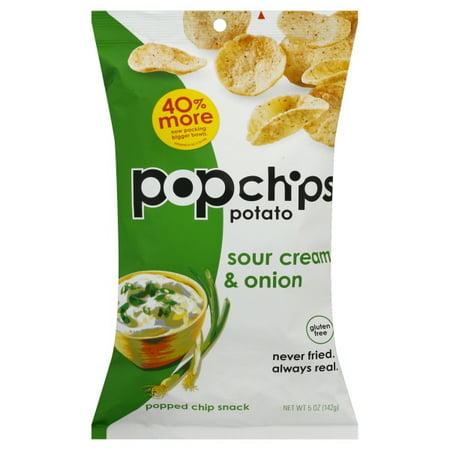 Popchips Gluten-Free Sour Cream & Onion Popped Chip Snack, 5