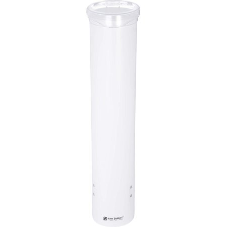 C4160WH Small Pull-Type Water Cup Dispenser, Fits 3 to 4-1/2 oz Cone Cups and 3 to 5 oz Flat Bottom Cups, White San Jamar - 16 inches - Construction Cone Cups