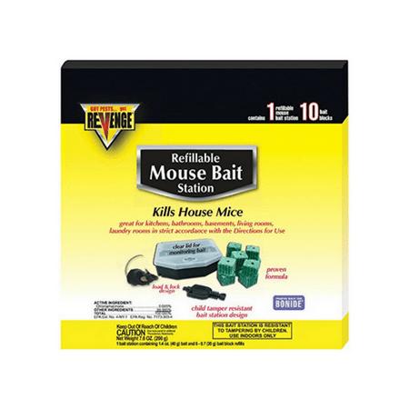 Bonide Products Mouse - BONIDE PRODUCTS 48112 48112 BAIT STATION REFILL MOUSE 10PK