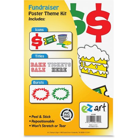 U.S. Stamp & Sign, USS6109, Fundraiser Poster Theme Kit, 1 Kit, Multicolor (Halloween Office Fundraisers)