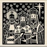 """Inkadinkado Mounted Rubber Stamp 3""""X3""""-Three Kings"""