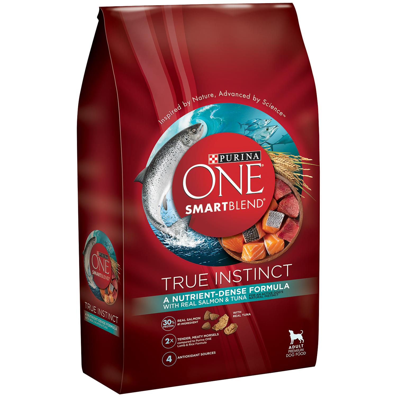 Purina ONE SmartBlend True Instinct with Real Salmon & Tuna Adult Premium Dog Food 15 lb. Bag