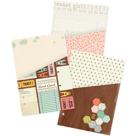 The Reset Girl Double - Sided A5 Inserts 3/Pkg - Pocket