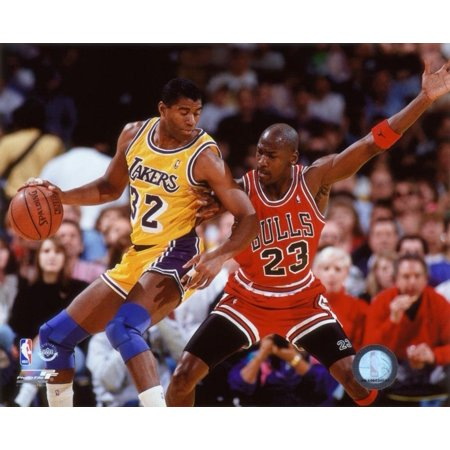 sports shoes 318a8 738f5 Michael Jordan & Magic Johnson 1990 Action Photo 10 x 8in, Exhibition  Quality 8x10 Photograph By NBA,USA