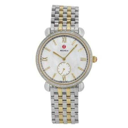 Michele Gracile MWW26A000003 Stainless Steel .40cttw Diamond Quartz Ladies Watch