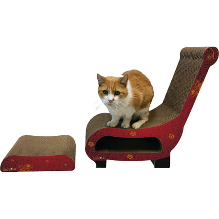 Imperial Cat Scratch 'n Shapes Club Chair (2-in-1) - Modern B
