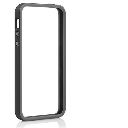 pretty nice e8571 dc295 TAVIK Outer Edge Bumper Case for Apple iPhone 5/5S, Black/Charcoal