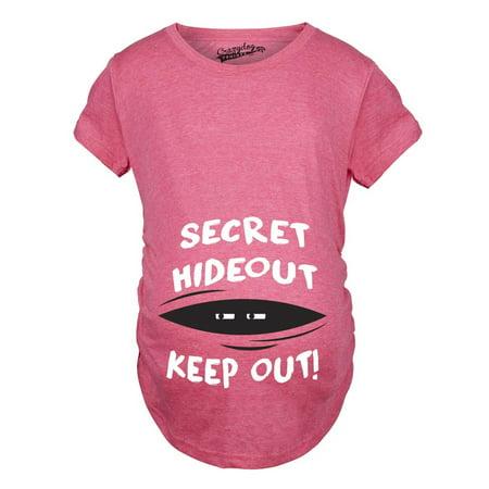 10175ae0 Crazy Dog Funny T-Shirts - Maternity Secret Hideout Baby Peeking Maternity  Shirt Funny Pregnancy Shirts - Walmart.com