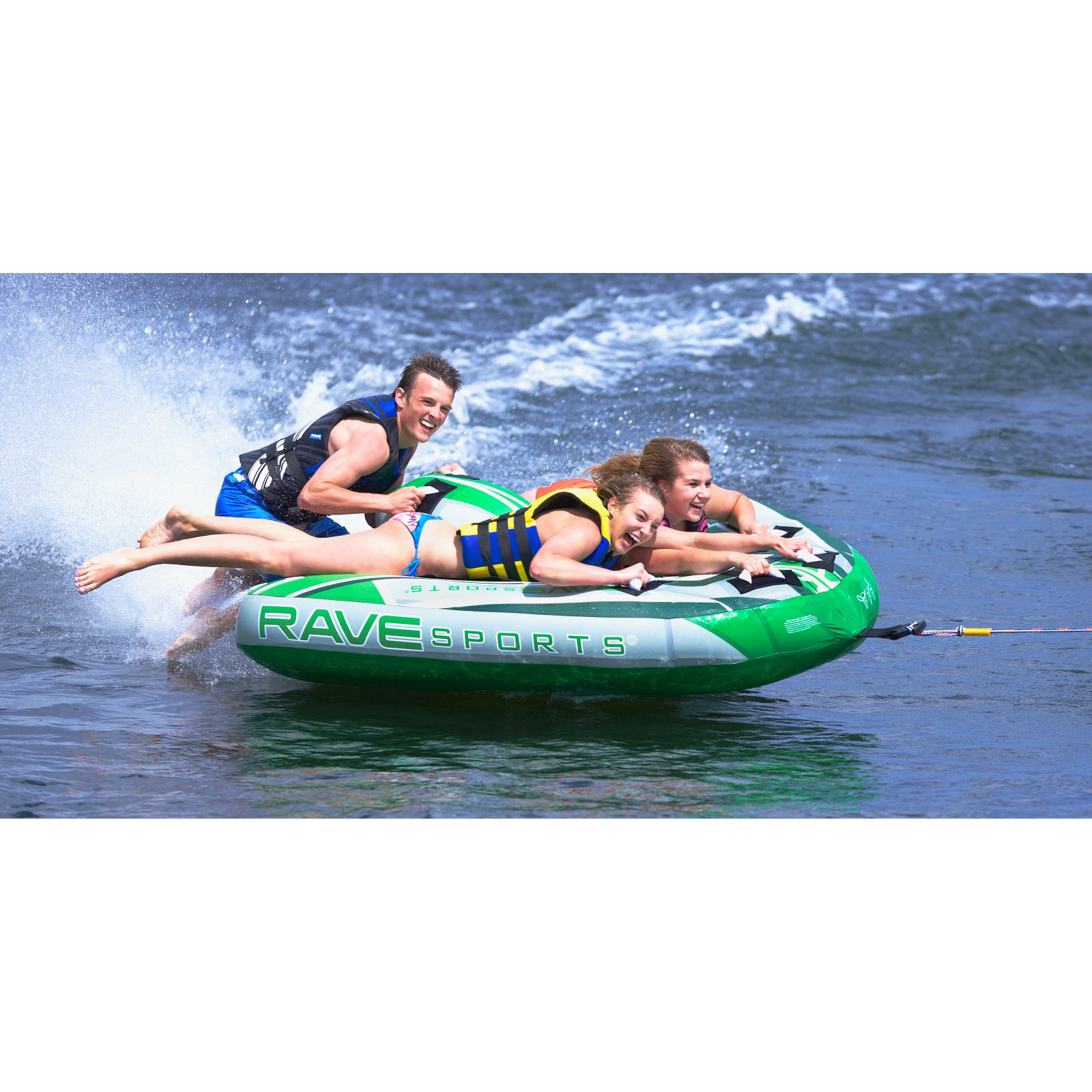 Rave Sport Wingman 3-Person Towable, Green by Generic