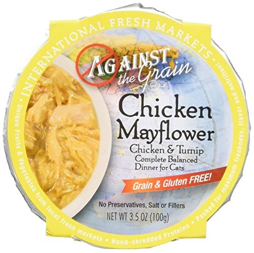 Image of Against the Grain Chicken Mayflower with Turnip All Stages Wet Cat Food, 3.5 Oz, 12 Ct