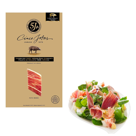 Cinco Jotas Paleta Iberico De Bellota Sliced Ham, Acorn Fed Premium Taste Pork Shoulder - 3 (Pork Smoked Ham)