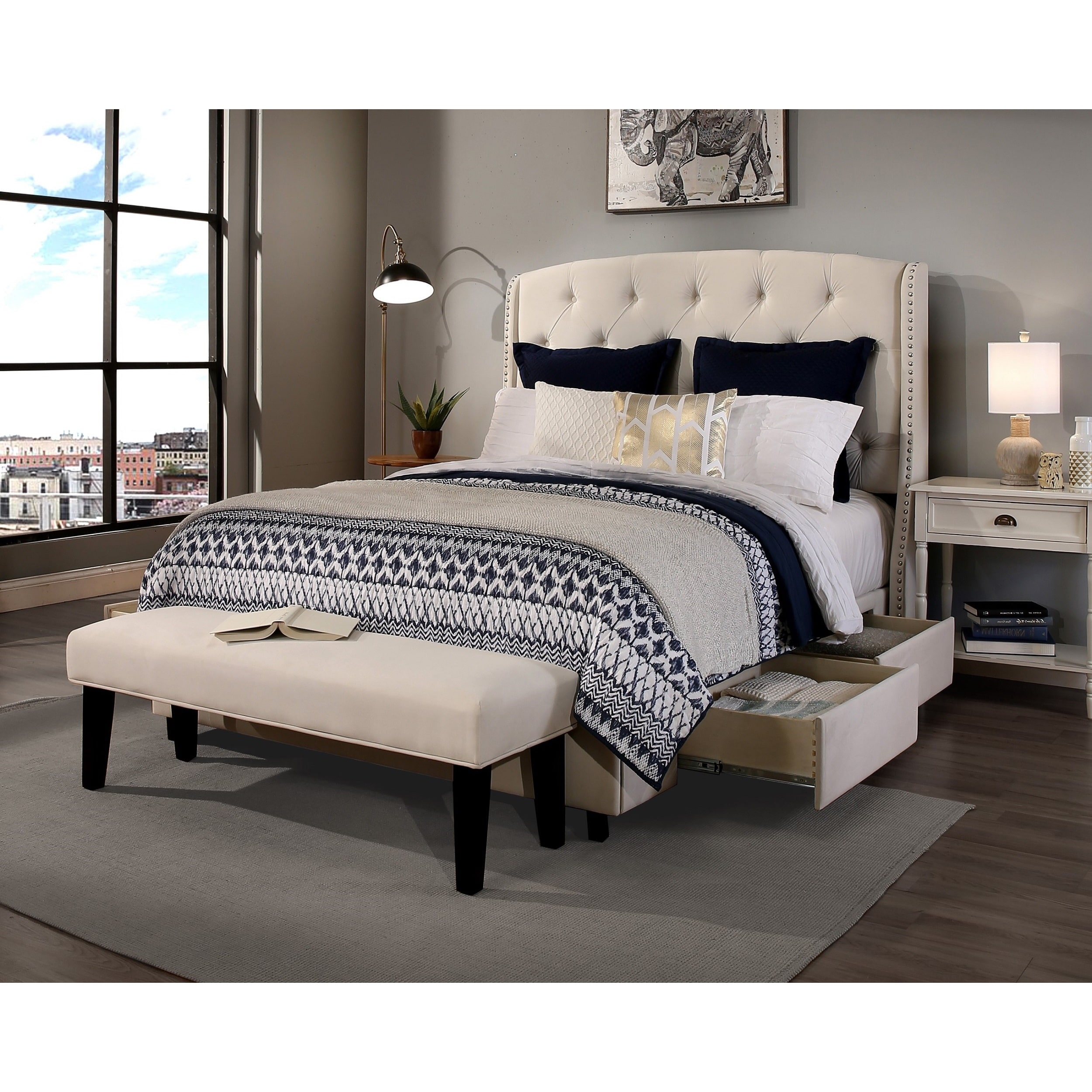 Republic Design House Peyton Upholstered Storage Bed