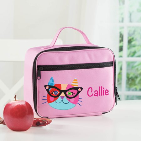 Hipster Cat Personalized Lunch Bag (Cat Lunch Bag)