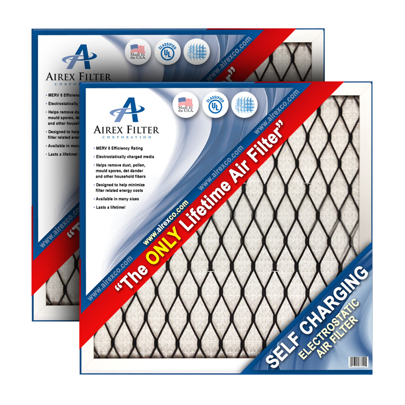 Airex Filter Corporation 14x20x1 Lifetime Electrostatic AC Furnace Air Filter. Washable. Never Buy another Filter Again EAF14201