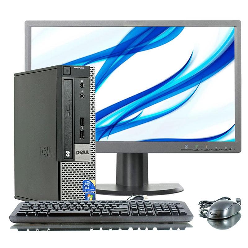 "Refurbished Dell Optiplex 790 2.5GHz i5 4GB 500GB DVD Win 10 Pro 64 SFF Computer+22"" LCD"