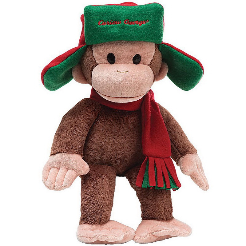 "Enesco ENS-5439-C Curious George 7"" Plush George In Fargo Hat by Gund"