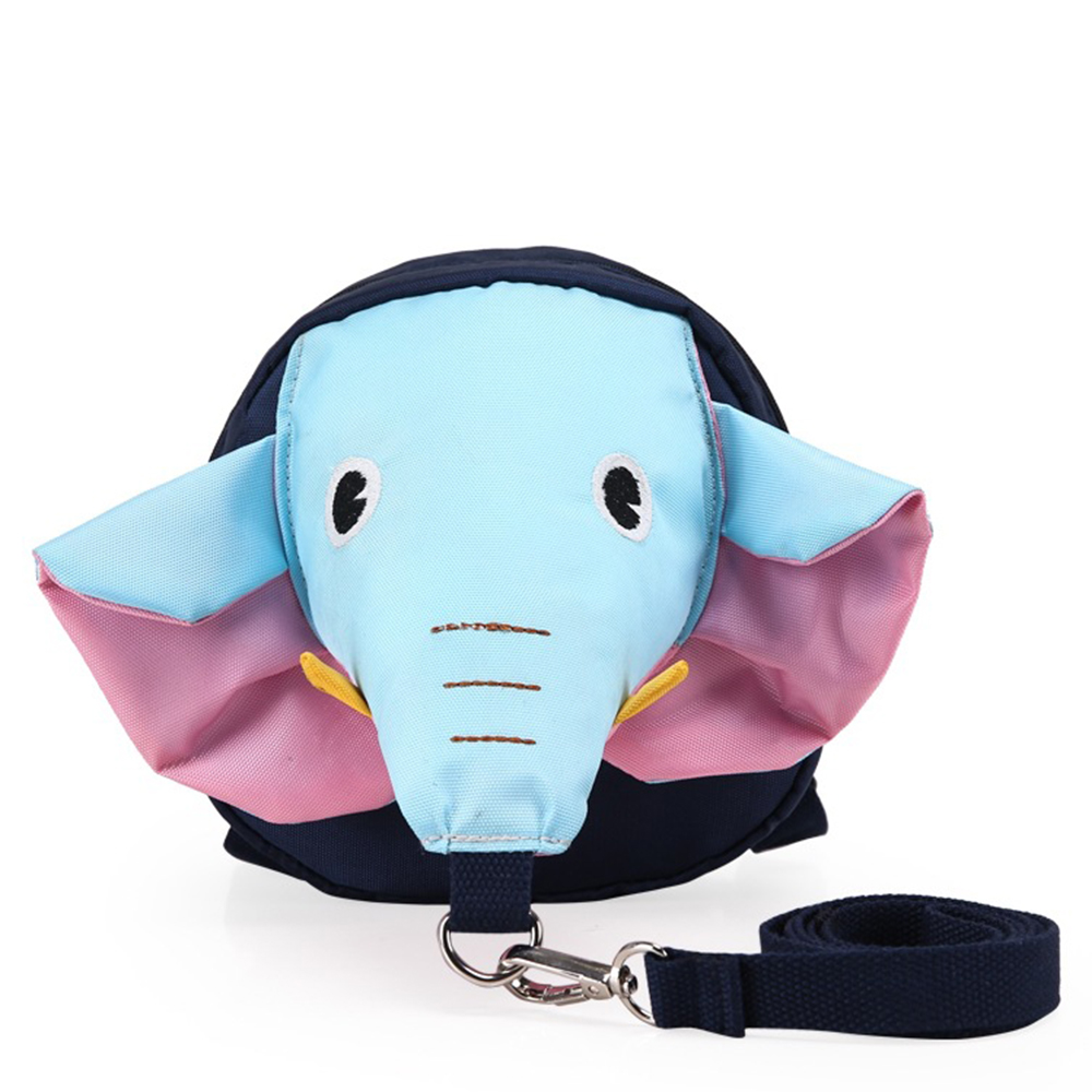 Anti Lost Kids Backpack Cute Elephant Design Children Baby Safety Keeper Toddler Walking Satchel Bag Strap Blue by