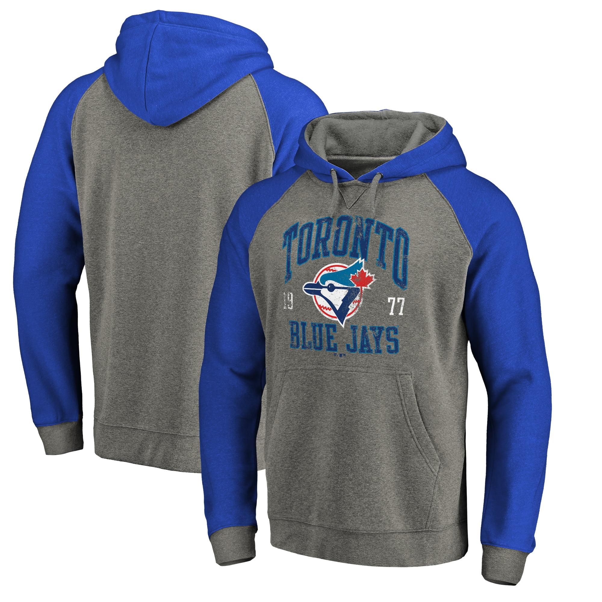 Toronto Blue Jays Fanatics Branded Cooperstown Collection Old Favorite Tri-Blend Raglan Pullover Hoodie - Ash