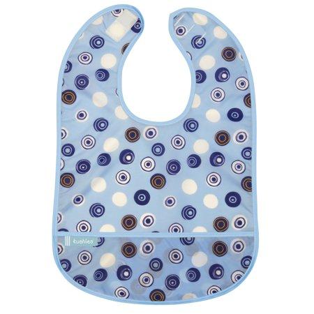 Kushies Cleanbib 12M+ Boy Blue Crazy Circles 2](Crazy Catalogue Clearance)