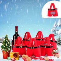 10PCS Christmas Xmaxs Party Gift Candy Bag Santa Claus Pants Filler Trousers