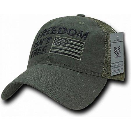 RapDom Freedom Isn t Free Polo Mesh USA Flag Mens Mesh Back Cap ... 9b8bc9073