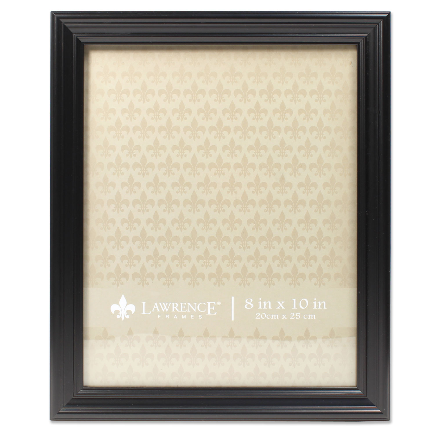 8x10 Classic Detailed Black Picture Frame by Lawrence Frames