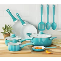 Mainstays Ceramic Nonstick 12 Piece Ombre Cookware Set