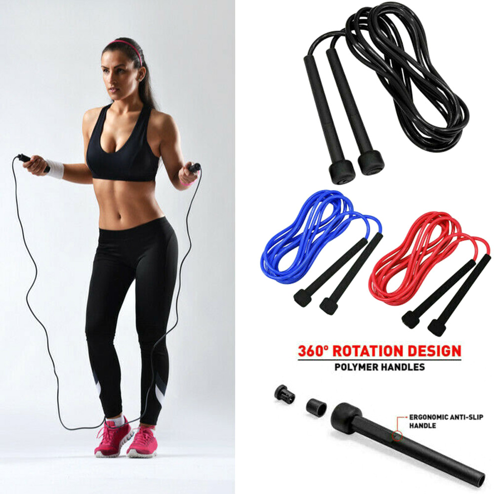 Skipping Fitness Speed Jumping Rope Boxing Exercise Kid Adult Girl Lose //
